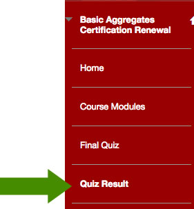 review quiz results